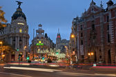 Madrid street at night — Stock Photo
