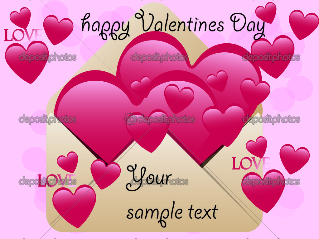 Valentine's Day Greeting card , love — Stock Photo #8562022