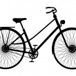 Silhouette of retro bicycle - Stock Vector
