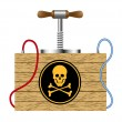 Bomb with danger sign (skull symbol) — Stock Vector #8103030