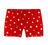 Men heart boxer shorts — Stock Vector