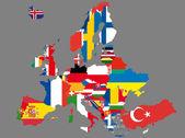 карта европы — Cтоковый вектор