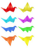 Origami ave — Vector de stock