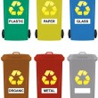Wheelie bins - Stock Vector