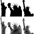 Stock Vector: New york statue liberty