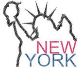 Nowojorska statua wolności — Wektor stockowy