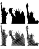 New york statue liberty — Stock Vector