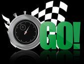 Go chronometer — Stock Vector