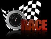 Race chronometer — Stock Vector