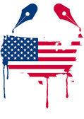 Usa flag nib — Stock Vector