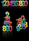 Set color numbers — Stock Vector