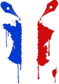 France flag nib — Stock Vector