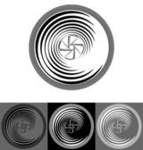 Stylized camera lens — Stock Vector