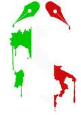 Italy flag nib — Stock Vector