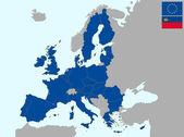Liechtenstein in europe — Stock Vector