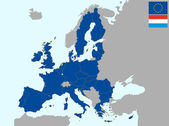 Luxemburg in europe — Stock Vector