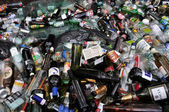 Glass bottles recycling — Stock Photo