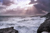 Stormy sea and cloudy sky — Stock Photo