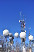 Antennas for telecommunications — Stock Photo