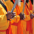Indian monks — Stock Photo