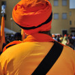 Indian orange turban — Stock Photo