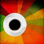svart kaffe på grunge — Stockfoto #10072964