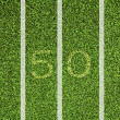 Stock Photo: View top of 50 yard line