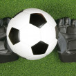 Soccer ball on grass - Stock Photo