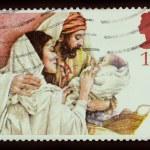 Christmas Stamp — Stock Photo