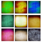 9 abstract grunge wall — Stock Photo
