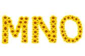 字母 mno — 图库照片