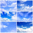 Set of blue sky — Stockfoto