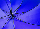 Blue umbrella — 图库照片