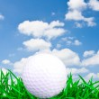 White golf ball — Stockfoto