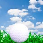 pelota de golf blanco — Foto de Stock