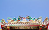 Dargon no telhado — Foto Stock