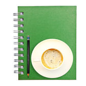 Green Notebook — Stock Photo