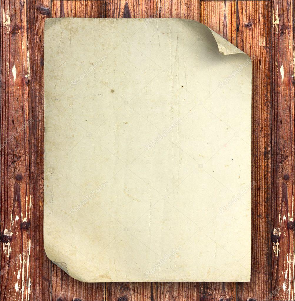 复古旧纸上为背景木板