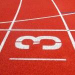 Running track No. 3 — Stock Photo