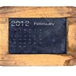 Calendar 2012, February — Stock Photo #9789866
