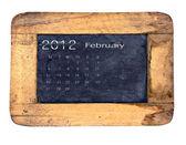 Kalendarz 2012, luty — Zdjęcie stockowe