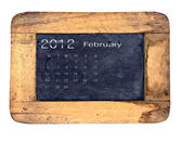 Kalender 2012, februar — Stockfoto