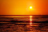 Sunset on the beach — Stock Photo