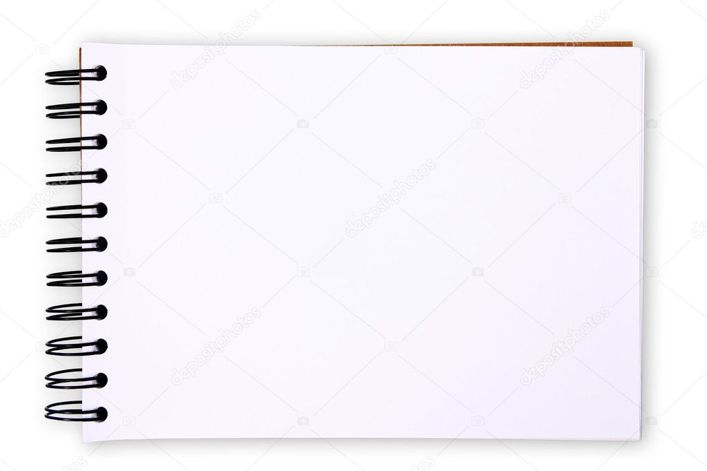 Blank paper tablet on white background (with clipping paths) — Stock Photo #9790136
