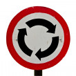 Stock Photo: Roundabout sign