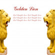 Statue golden lion - Stock Photo