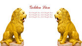 Leone statua dorata — Foto Stock