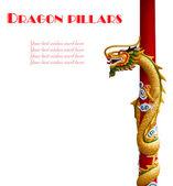 Drachen-säulen — Stockfoto