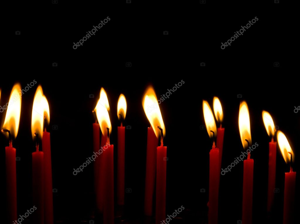 Red Candle light group — Stockfoto #9802963