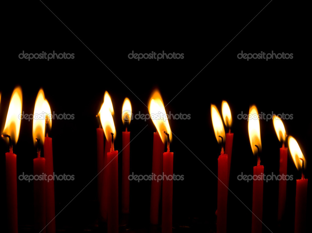 Red Candle light group — Foto de Stock   #9802963